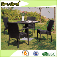 Stackable rattan furniture restaurant used Aluminium poly wicker garden furniture outdoor