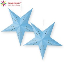 Wholesale Paper Star Hanging Lanterns New Year Holiday Party Home Indoor Decoration