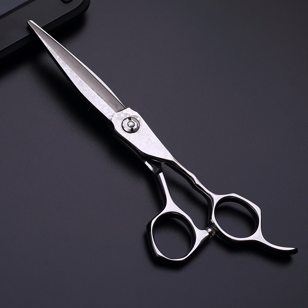 Engrave handle hair trimming shears ball bearing screw hair cut scissors