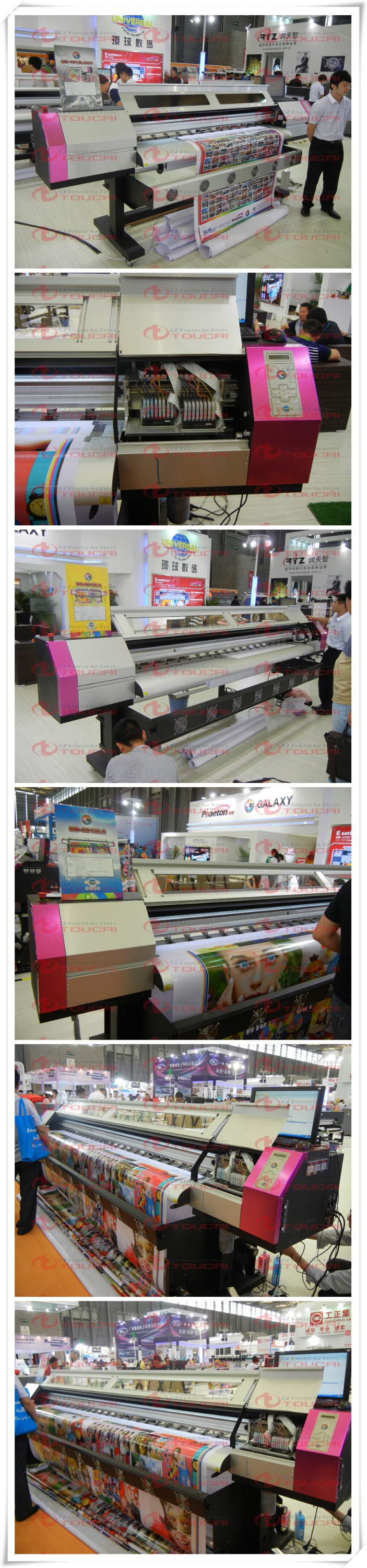 Factory directly supply!!! Galaxy UD 1.6m to 3.2m DX5 head eco solvent printer
