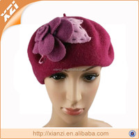 European style fashion embossed warm berets for woman
