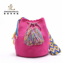 2017 Newest handmade wayuu bags ethnic wayuu tassels crossbody handbags