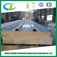 Weather proofing mineral rockwool insulated sandwich panel