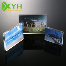 "5x7"" clear acrylic magnetic photo frame mini square acrylic photo frame"