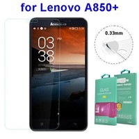 Factory price 2.5 Degree 0.33MM screen protector for Lenovo A850+