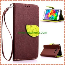 Leaf Design Wallet Leather Flip Case Cover for Samsung Galaxy Grand Prime G530