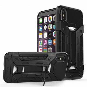 Blank kickstand design phone Armor 2 in 1 Combo universal Case for iPhone X TPU PC Cover
