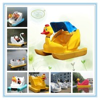 Fwulong hot sale swan pedal boat,FRP Pedalo boat bike in the water