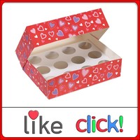 cup cake box, food grade cup cake box