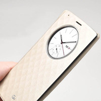 Quick Circle Smart Window View Slim Wallet Flip Smart Case Cover for LG G4