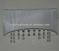 contemporary crystal silver fabric wall light for home decor
