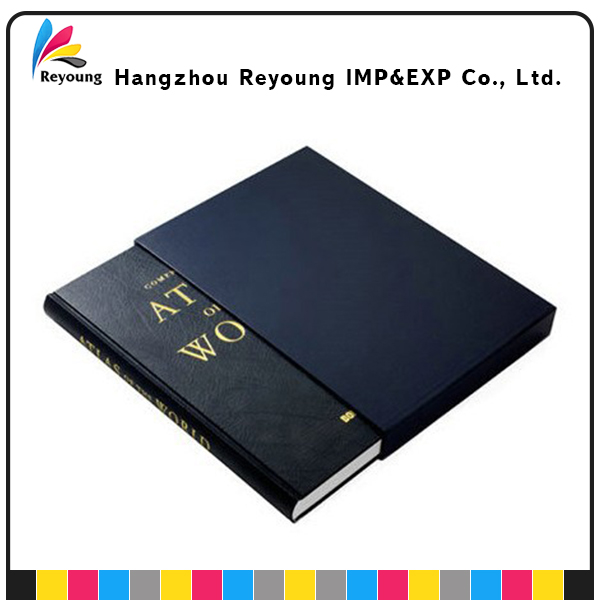 Cheap artificial leather coated hardcover book printing