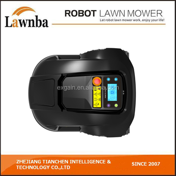 Gift for family-robot lawn mower E1800 with intelligent cutting height on LCD display