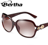 Bertha Gradient Big Frame Sunglasses K260 Dark Brown