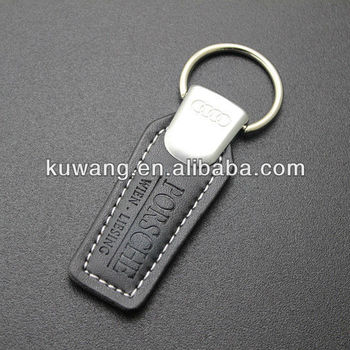 Embossed Leather Keyring