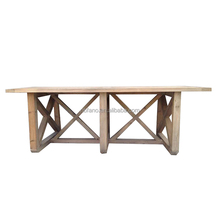 FN-6569 eco-friendly recycled new design durable wood dining table
