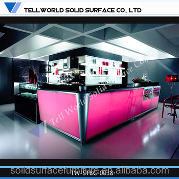 Man-made stone pub led music decorative panel for bar counter