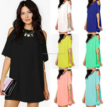 3xl plus New Sexy Womens Chiffon Off shoulder Dress ladies dress 2015summer Beach Party