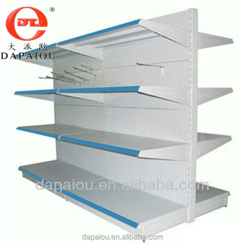 Metal adjustable display Rack shelf supermarket shelf