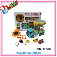 Hot sale light up musical toy RC truck with batter and charger