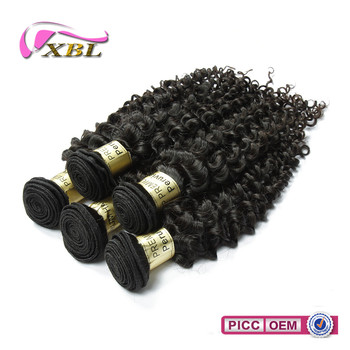 100% raw human hair unprocessed Peruvian hair virgin deep curly hair
