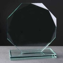 2015 new arrival cheap blank glass trophy award