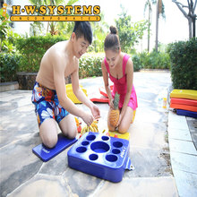 Manufacture Mass Floating Vinyl Coated Foam Food Tray Drink Cup Holder in Pool Water and Beach