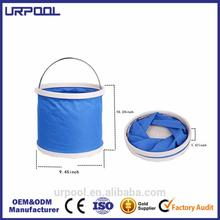 easy carry foldable bucket collapsible plastic bucket outdoor camp bucket