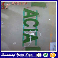 light up acrylic LED advertising the alphabet decorated