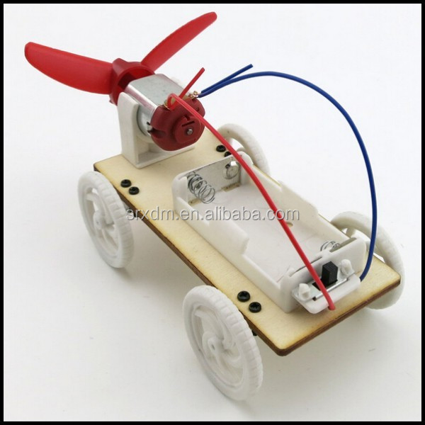 Wind car small production diy model science technology experiment assembling toy