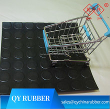 factory price good quality black anti skid Round stud rubber floor mat
