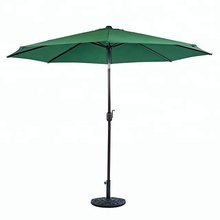 300cm Garden Patio Cranked Parasol Outdoor Bistro Restaurant Umbrella