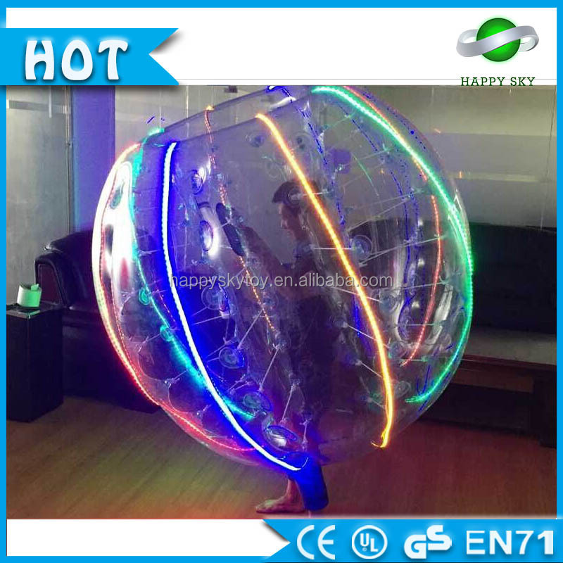 Best price!!!LED inflatable ball suit,LED bubble soccer chicago,LED bubble head soccer