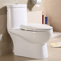 Hot sale WC sanitary wares ceramic siphonic flush one piece toilet for hospital