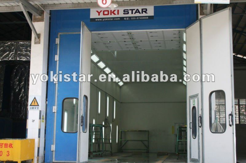 Chinese top industrial car bake oven is a large spray booth with RIELLO burner
