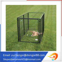 10x10x6 foot classic galvanized outdoor chain link dog kennel