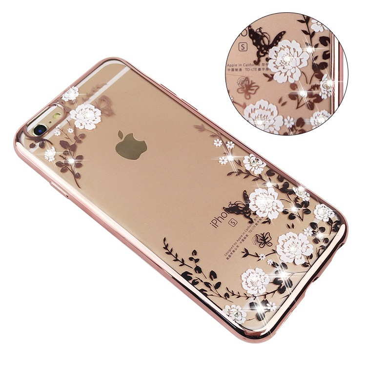 2016 New Product Shockproof Transparent Patterned TPU Phone Cover Electroplating Phone Case For iPhone 6 6s