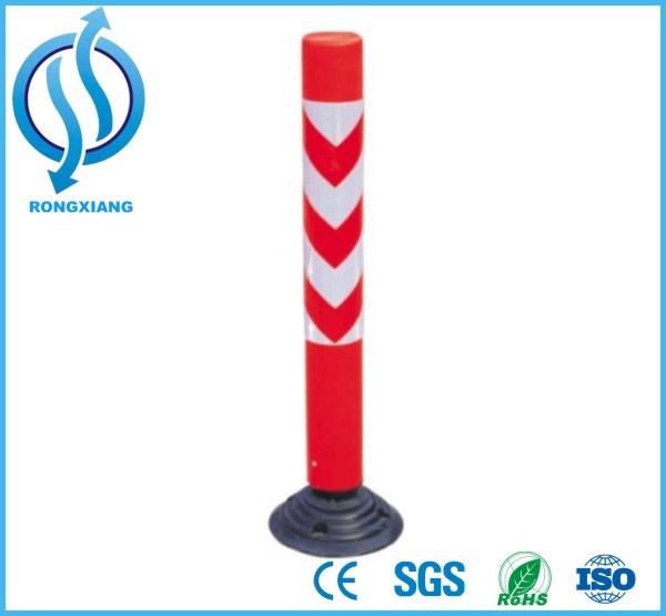 Rubber Base Flexible Spring Post with Highly Reflective Tape