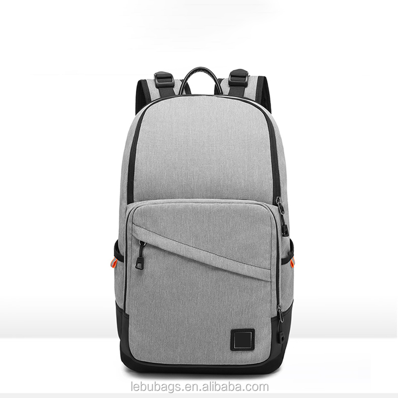 Hot selling stylish anti-theft brand OEM leisure gift bags recycled work laptop backpack for korean