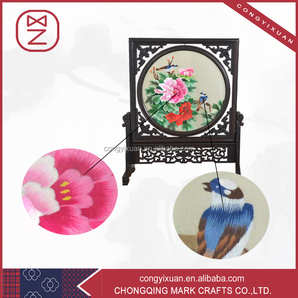 2016 China OEM Pure Handmade Silk Embroidery for Hotel Decor