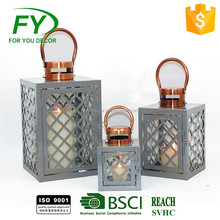 ML-2010 Top Seller Table And Wall Decoration Round Hollow Hanging White Metal Lantern