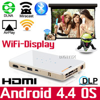 High Quality 1GB RAM 3D HD USB Video MHL DLNA Miracast Airplay Wifi Micro Pocket LED Pico Mini Projector