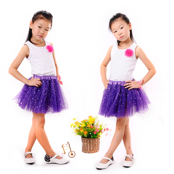 Latest Trend Girls' Petticoat Skirt With Star Glitter