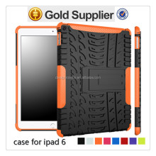 fantastic brand new tablet case for ipad 6, holster stand back cover case for ipad 6