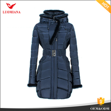 wholesale thickening korean style korean style ladies jackets padding winter down cotton coats with mink fur hood