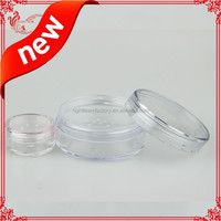 loose face powder container 30ml , empty round cosmetic container,loose powder jar with sifter