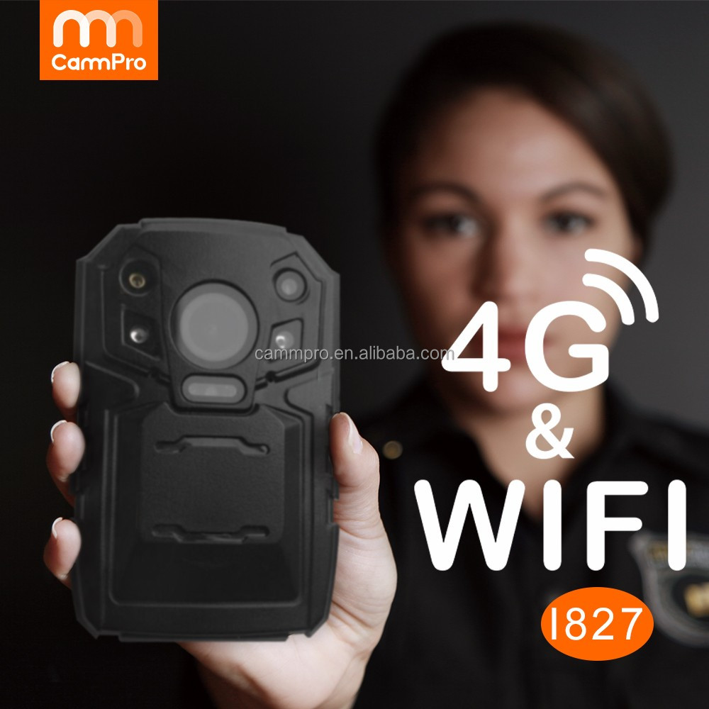 3G/4G 5GHz WIFI GPS High Speed Live Streaming Police Body Worn Camera 1296P High Resolution