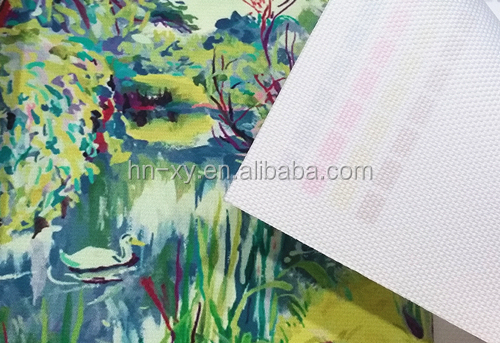 Digital printing Polyester Canvas Matt Waterproof 240gsm 600d*600d
