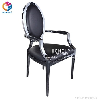luxury round back wholesale cheap banquet stainless steel chair