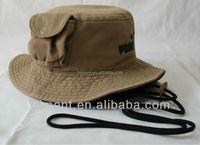 Good quality cotton bucket embroidery fishing hat